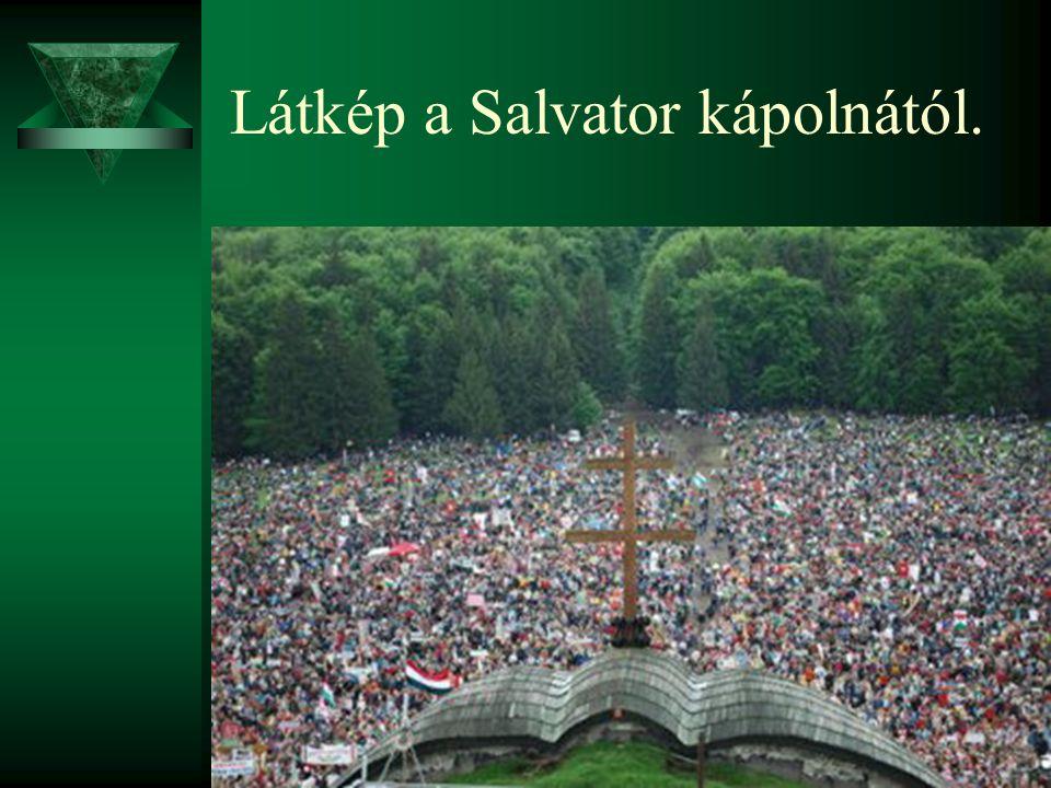 Látkép a Salvator kápolnától.