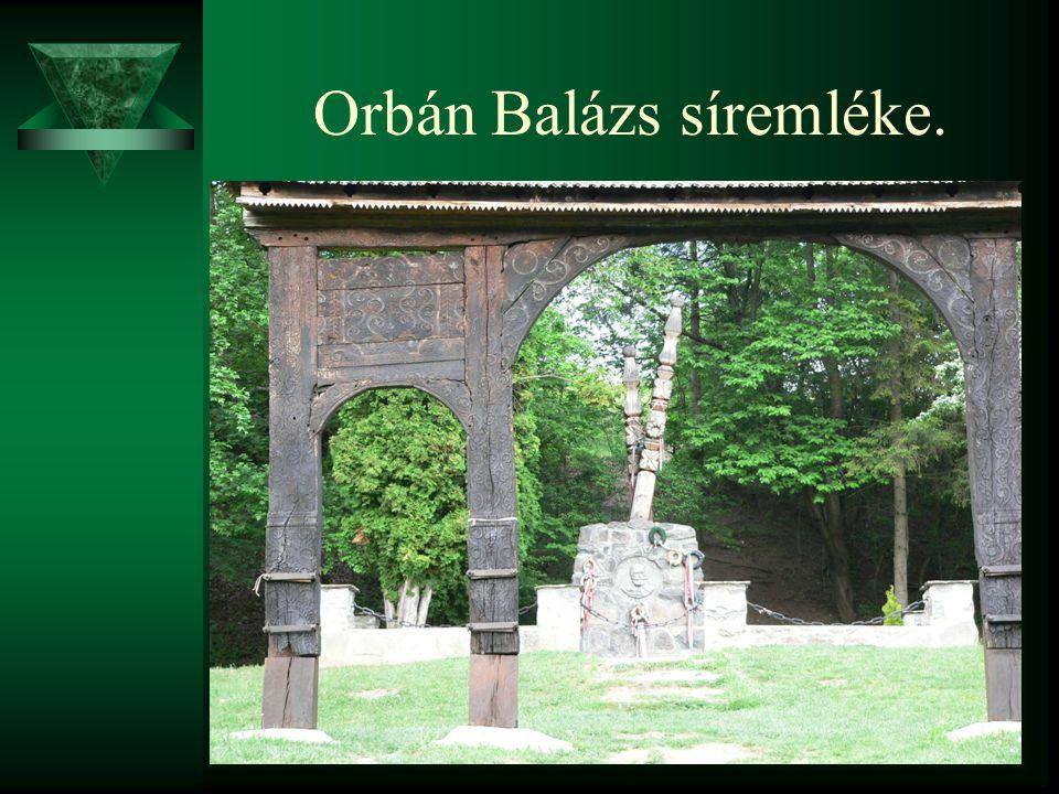 Orbán Balázs síremléke.