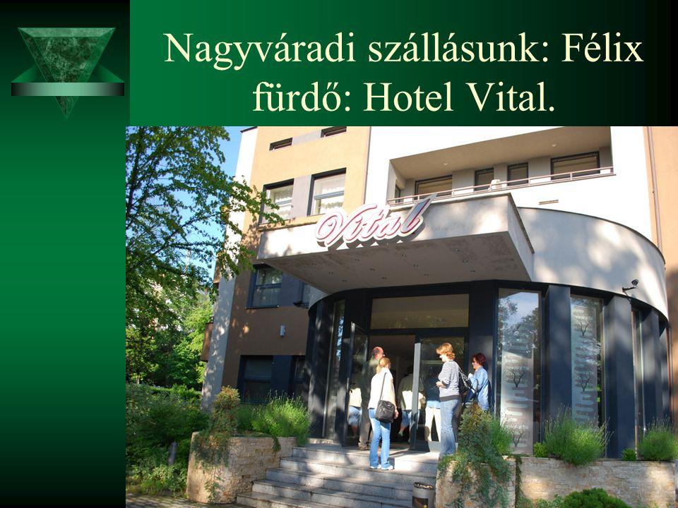 Nagyváradi szállásunk: Félix fürdő: Hotel Vital.