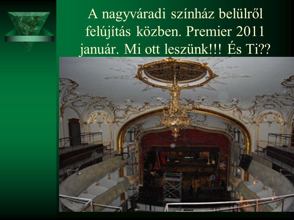 A nagyváradi színház belülről felújítás közben. Premier 2011 január. Mi ott leszünk!!! És Ti??