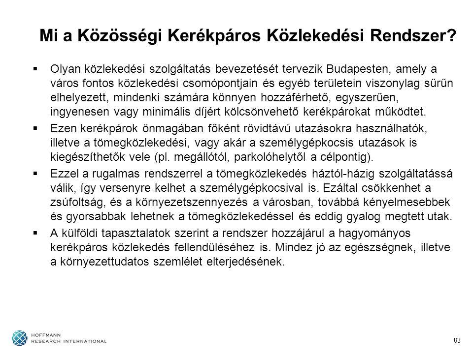 Mi a Közösségi Kerékpáros Közlekedési Rendszer?  Olyan közlekedési szolgáltatás bevezetését tervezik Budapesten, amely a város fontos közlekedési cso