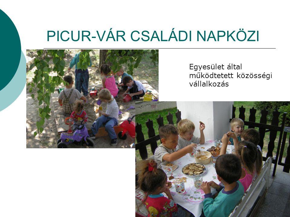 PICUR-VÁR CSALÁDI NAPKÖZI Egyesület által működtetett közösségi vállalkozás