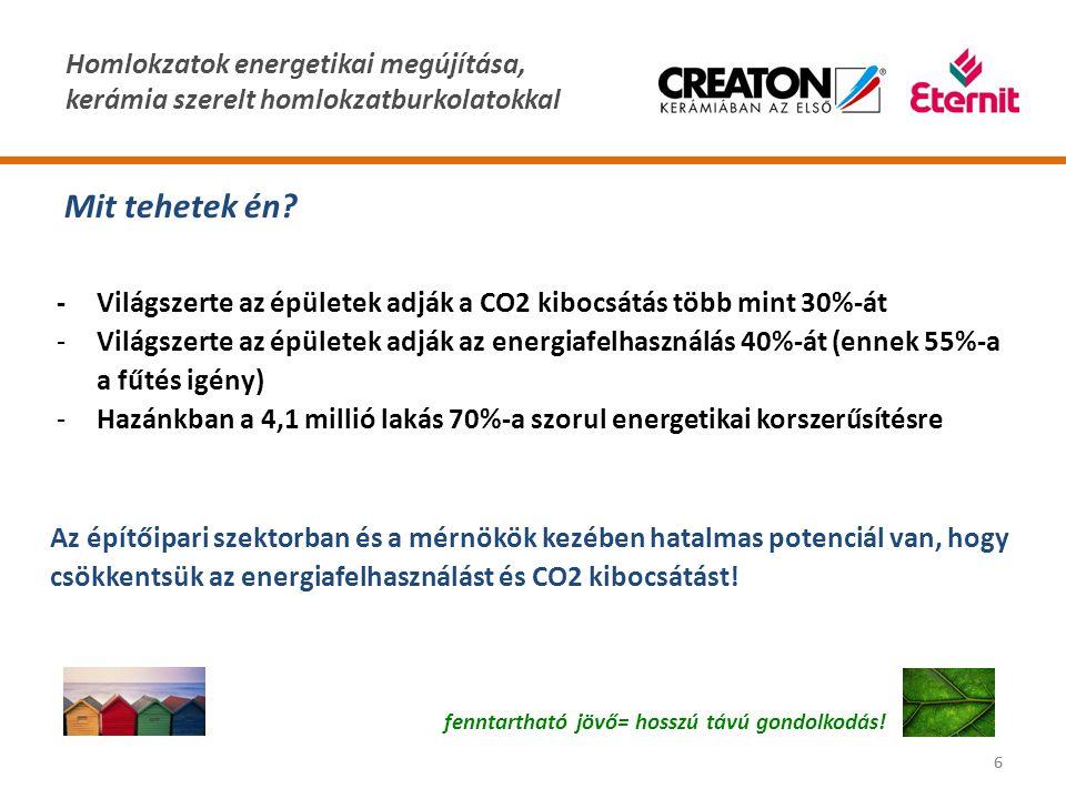 Homlokzatok energetikai megújítása, kerámia szerelt homlokzatburkolatokkal 66 Mit tehetek én? fenntartható jövő= hosszú távú gondolkodás! -Világszerte