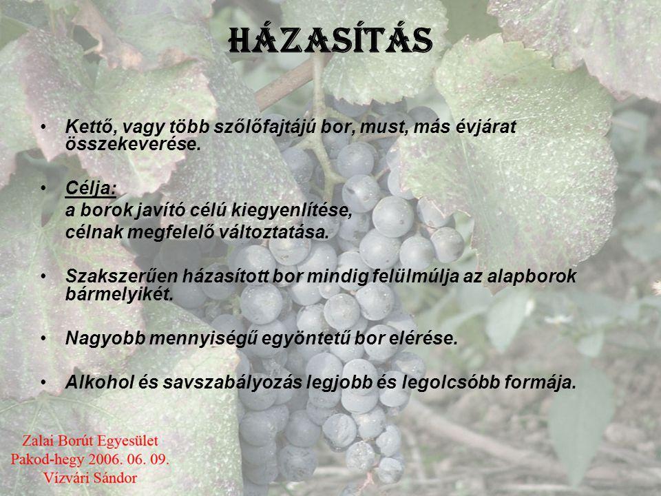 Fejtés módjai •Nyílt fejtés: Csapról nyíltan vödörbe-kádba fejtünk Egészséges tiszta borokat, amelyek színe nem változik, levegőztetjük. Az oxigénfelv