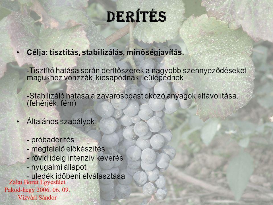 Darabban lév ő borok kezelése •Általában arra kell törekednünk, hogy a hordóink lehetőleg tele legyenek, ezáltal védve van a pinpósodás (borvirág) és