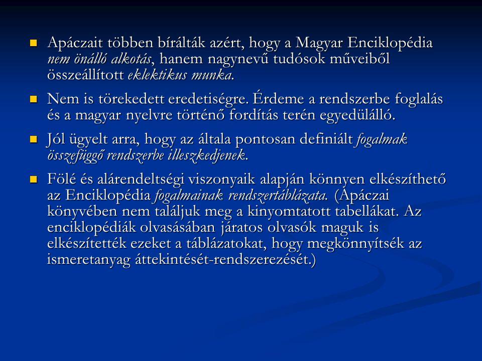  Kiknek készült a Magyar Enciklopédia.