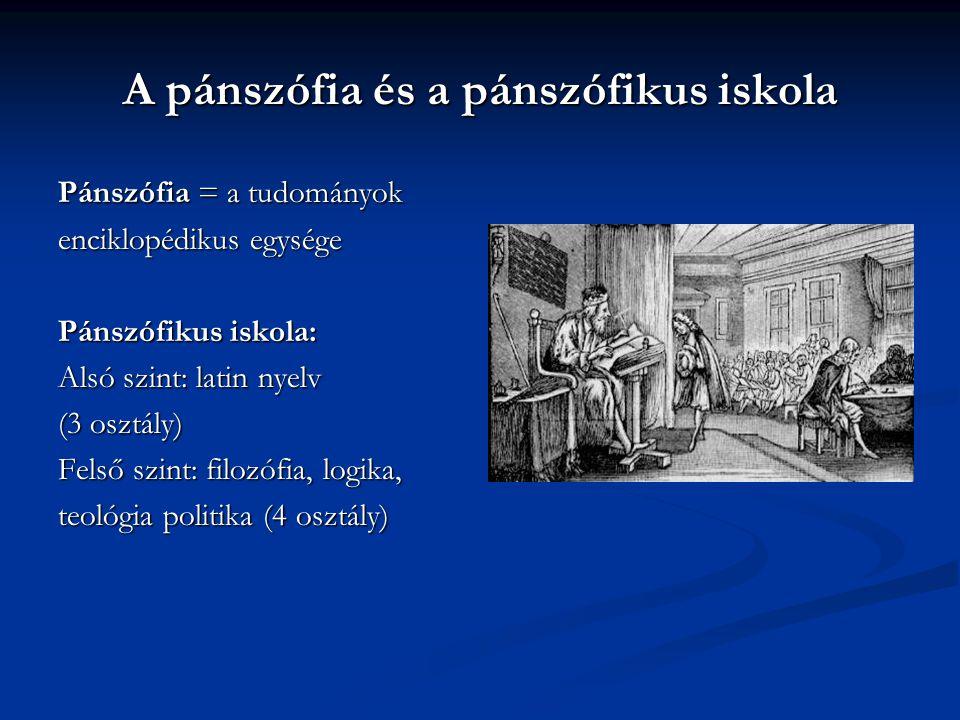 """Iskolakoncepciója a """"Didactia Magná -ban  Anyaiskola (0-6)  Anyanyelvi iskola (6-12)  Latin iskola (12-18)  Akadémia (18-24)"""