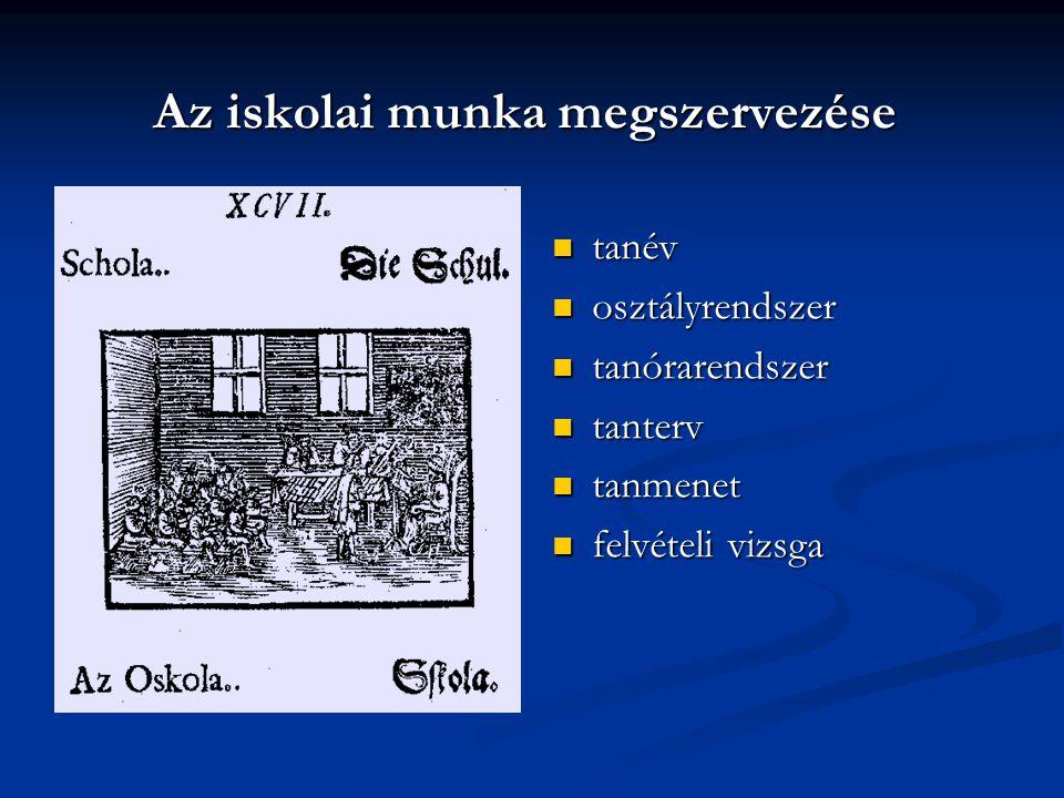 """Iskolakoncepciója az """"Egyetemes tanácskozás -ban """"Az első iskola helye ott lesz, ahol csak emberek születnek; a másodiké valamennyi házban, a harmadiké minden faluban; a negyediké minden városban; az ötödiké minden országban vagy tartományban, a hatodiknak helye az egész világ lesz, a hetediké pedig minden olyan helység, ahol nagy kort megért emberek találhatók. (Comenius: Pampaedia)  Élethosszig tartó tanulás (LLL)"""