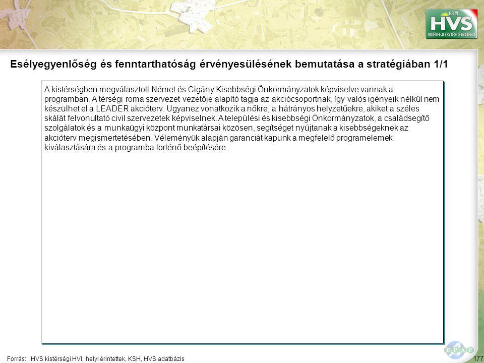 177 A kistérségben megválasztott Német és Cigány Kisebbségi Önkormányzatok képviselve vannak a programban.