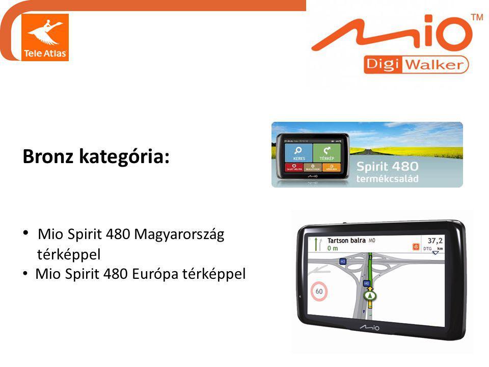 Bronz kategória: • Mio Spirit 480 Magyarország térképpel • Mio Spirit 480 Európa térképpel