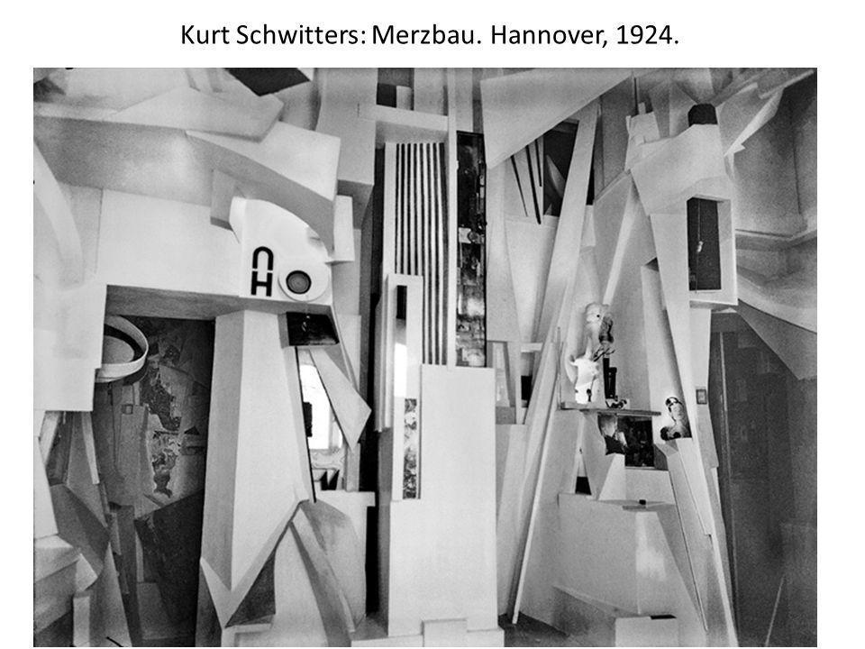 Kurt Schwitters: Merzbau. Hannover, 1924.
