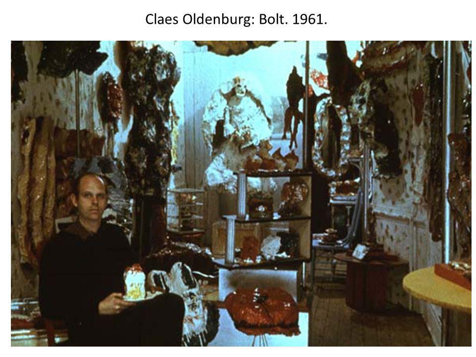 Claes Oldenburg: Bolt. 1961.