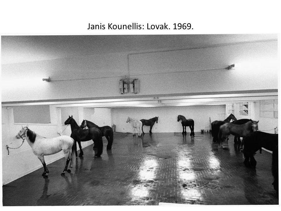 Janis Kounellis: Lovak. 1969.