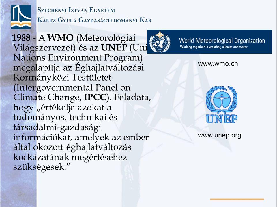 1988 - A WMO (Meteorológiai Világszervezet) és az UNEP (United Nations Environment Program) megalapítja az Éghajlatváltozási Kormányközi Testületet (I