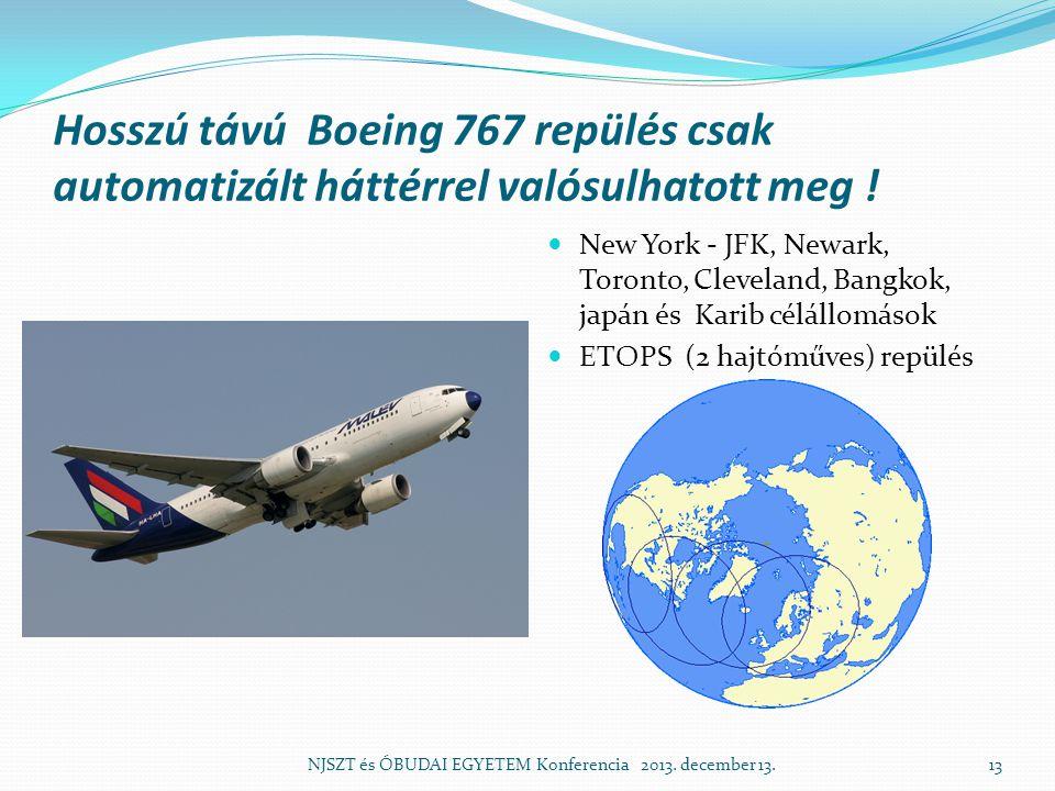 Hosszú távú Boeing 767 repülés csak automatizált háttérrel valósulhatott meg !  New York - JFK, Newark, Toronto, Cleveland, Bangkok, japán és Karib c