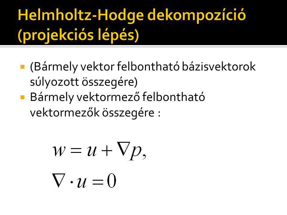  (Bármely vektor felbontható bázisvektorok súlyozott összegére)  Bármely vektormező felbontható vektormezők összegére :