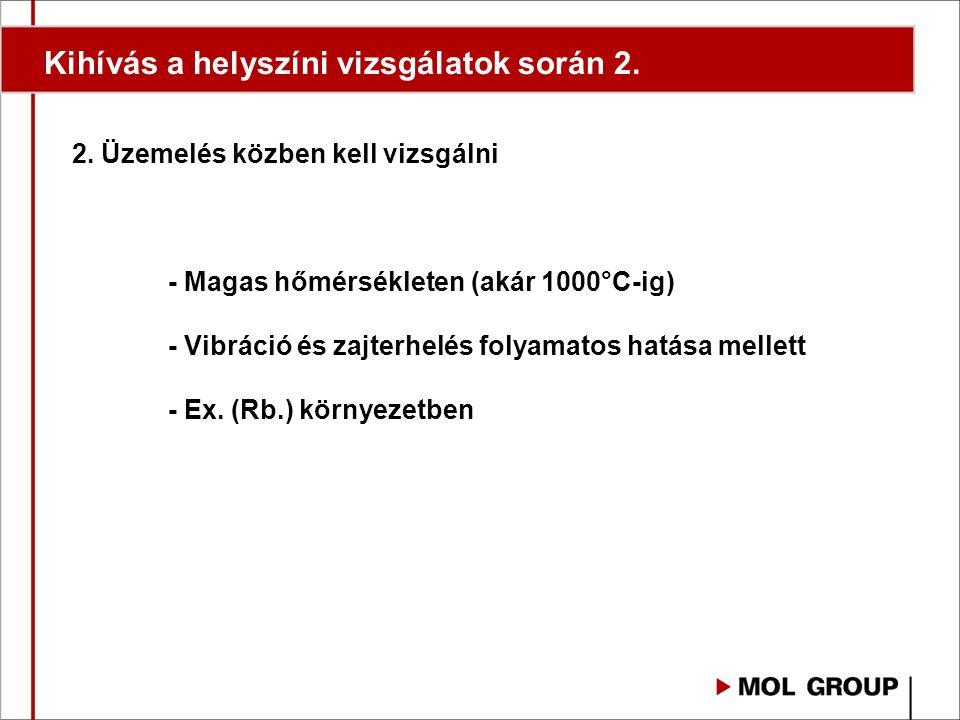 Kihívás a helyszíni vizsgálatok során 2. 2.
