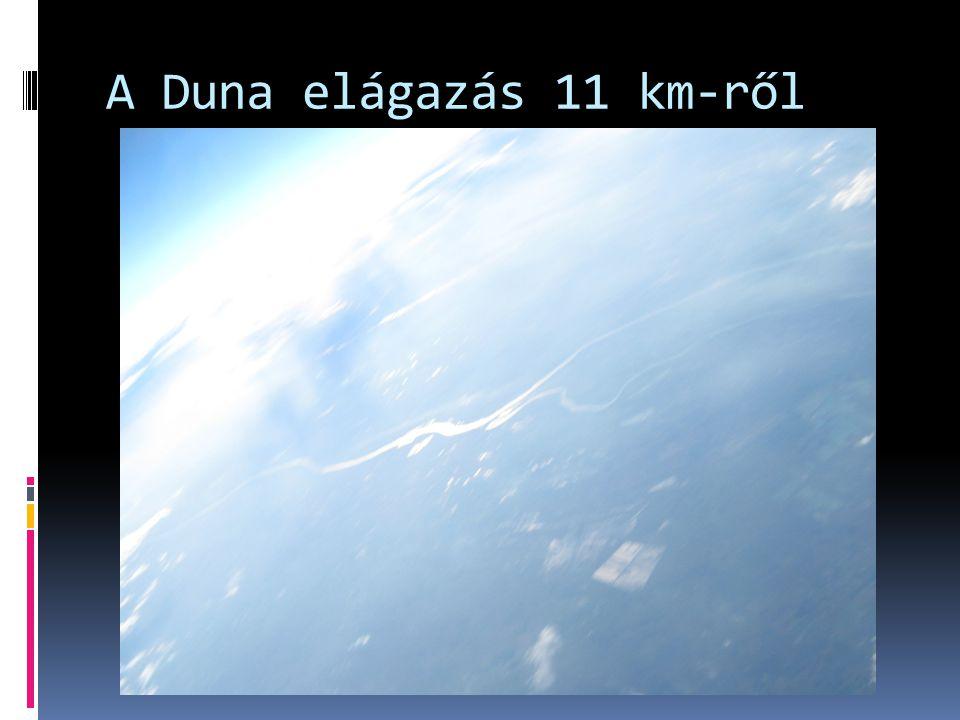 A Duna elágazás 11 km-ről
