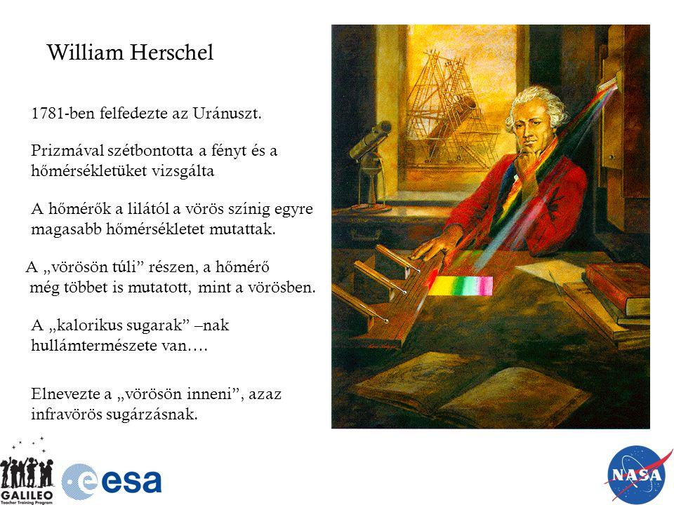 William Herschel 1781-ben felfedezte az Uránuszt.