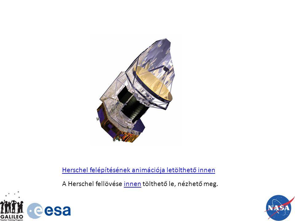 Herschel felépítésének animációja letölthető innen A Herschel fellövése innen tölthető le, nézhető meg.innen