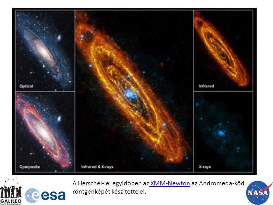 A Herschel-lel egyidőben az XMM-Newton az Andromeda-köd röntgenképét készítette el. XMM-Newton