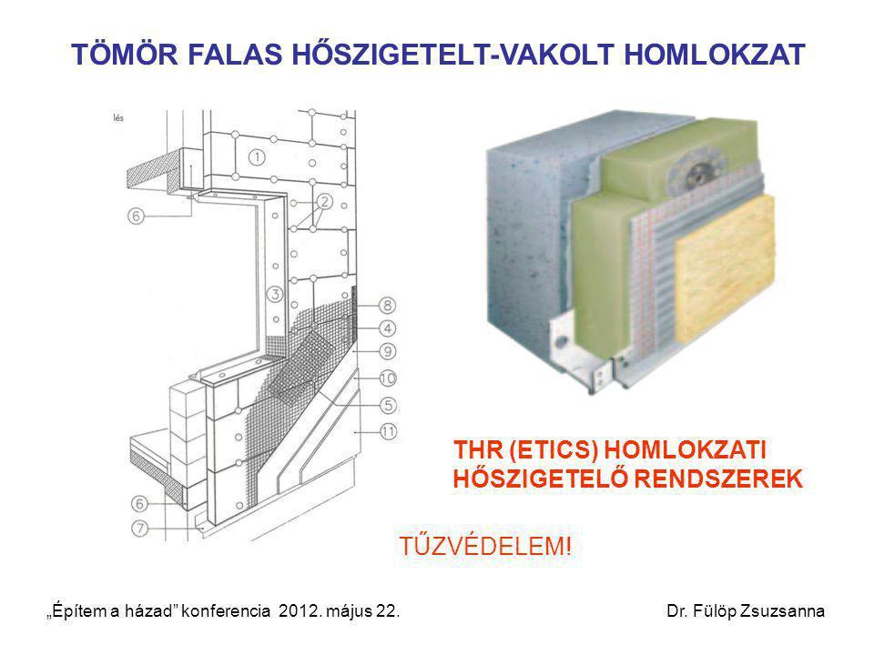 """TÖMÖR FALAS HŐSZIGETELT-VAKOLT HOMLOKZAT THR (ETICS) HOMLOKZATI HŐSZIGETELŐ RENDSZEREK TŰZVÉDELEM! """"Építem a házad"""" konferencia 2012. május 22. Dr. Fü"""