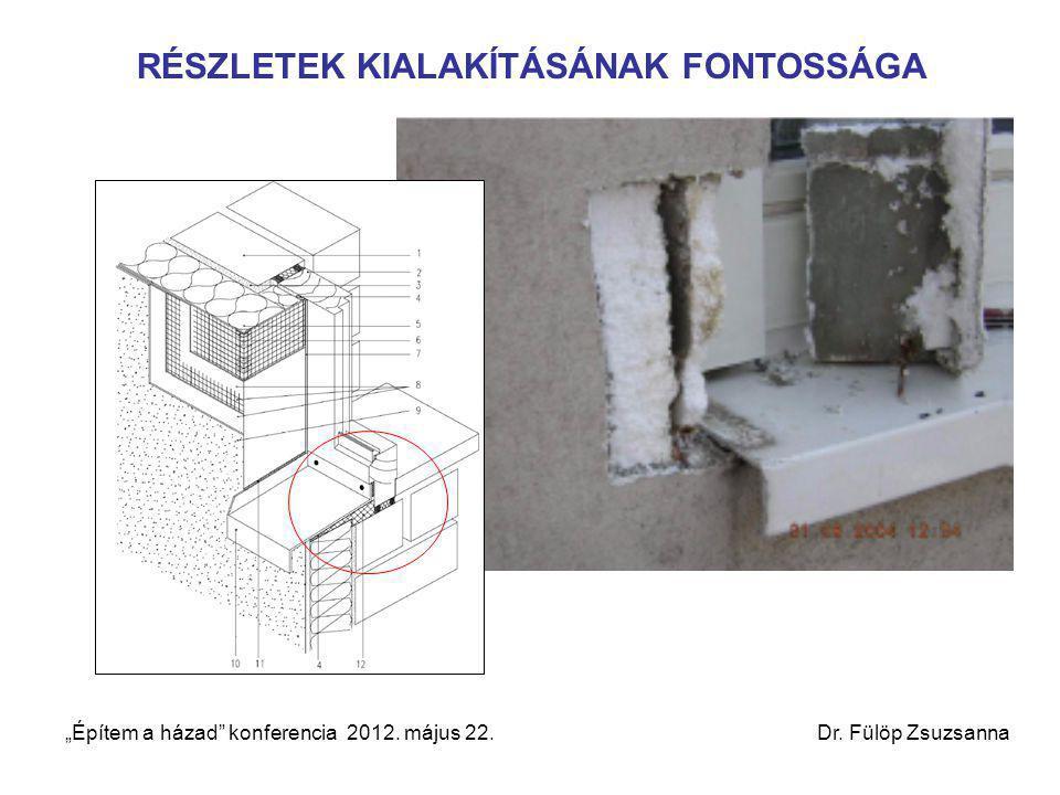 """RÉSZLETEK KIALAKÍTÁSÁNAK FONTOSSÁGA """"Építem a házad"""" konferencia 2012. május 22. Dr. Fülöp Zsuzsanna"""