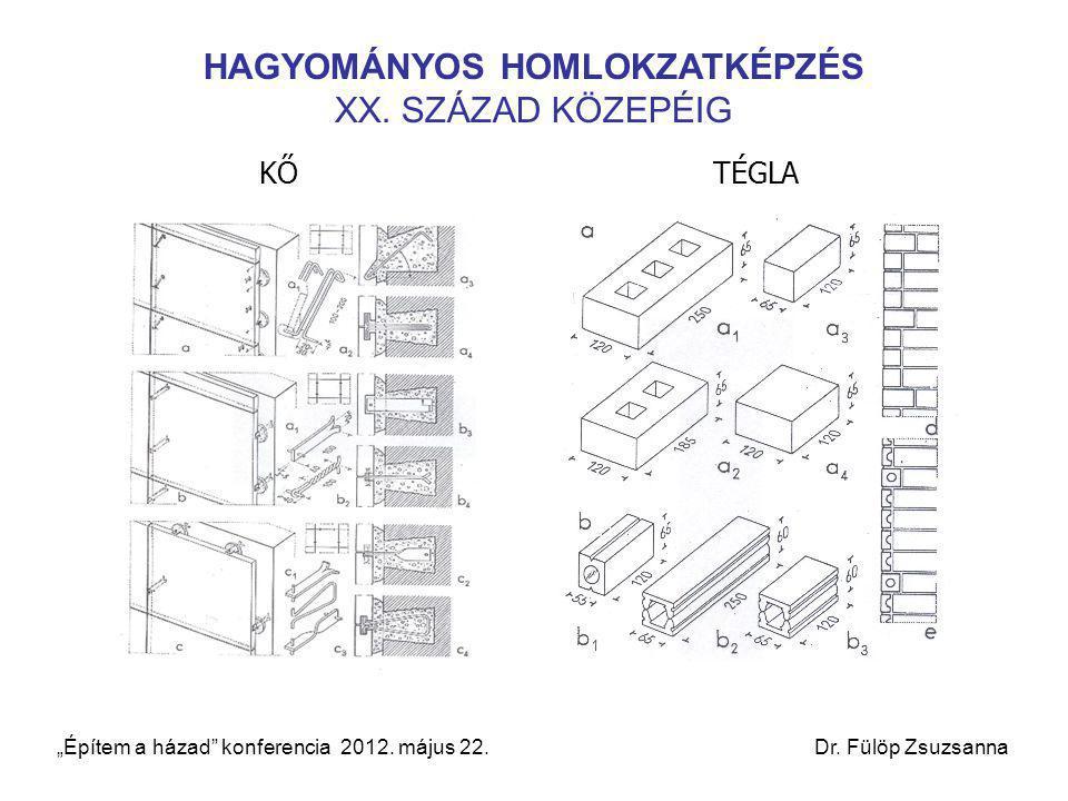 """HAGYOMÁNYOS HOMLOKZATKÉPZÉS XX. SZÁZAD KÖZEPÉIG KŐTÉGLA """"Építem a házad"""" konferencia 2012. május 22. Dr. Fülöp Zsuzsanna"""