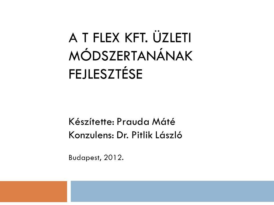 A T FLEX KFT. ÜZLETI MÓDSZERTANÁNAK FEJLESZTÉSE Készítette: Prauda Máté Konzulens: Dr. Pitlik László Budapest, 2012.