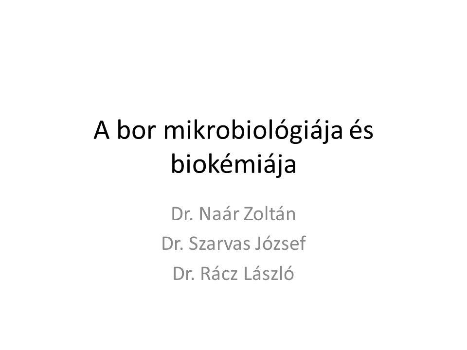 A bor mikrobiológiája és biokémiája Dr. Naár Zoltán Dr. Szarvas József Dr. Rácz László