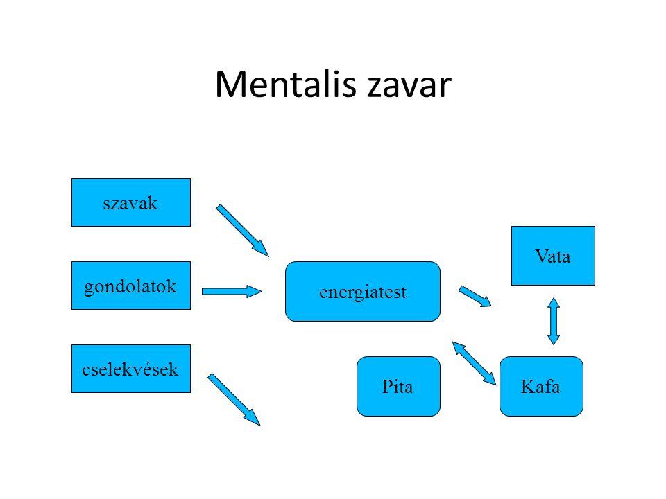 Mentalis zavar szavak gondolatok cselekvések energiatest Vata PitaKafa