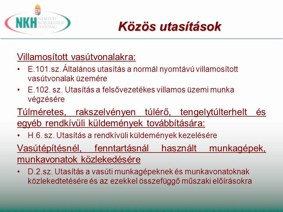 MÁV Zrt., illetve GYSEV Zrt.