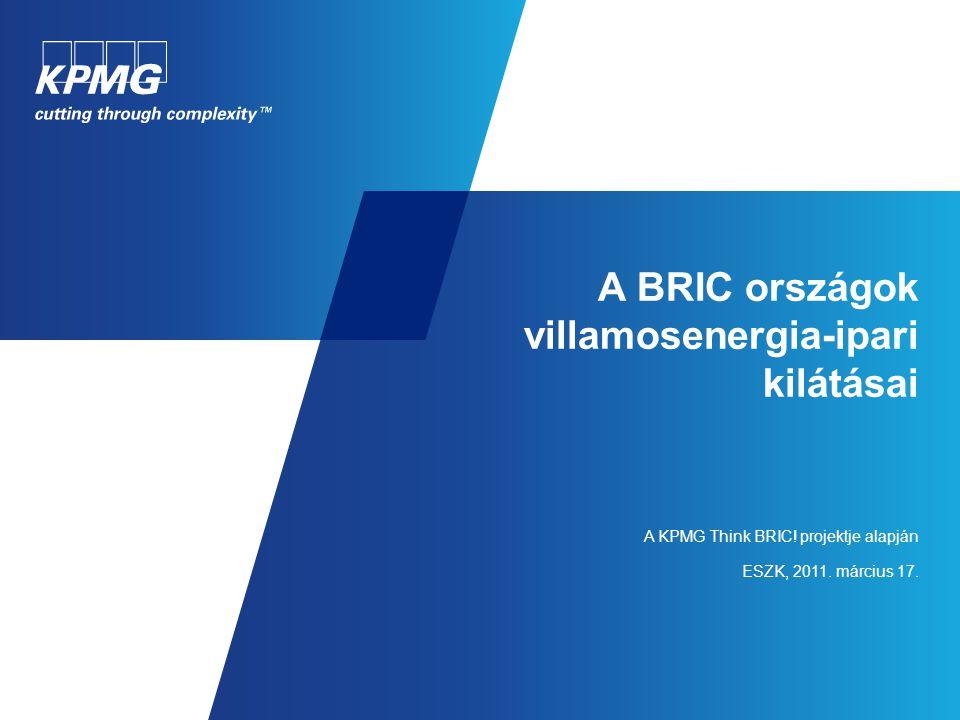 A BRIC országok villamosenergia-ipari kilátásai A KPMG Think BRIC! projektje alapján ESZK, 2011. március 17.