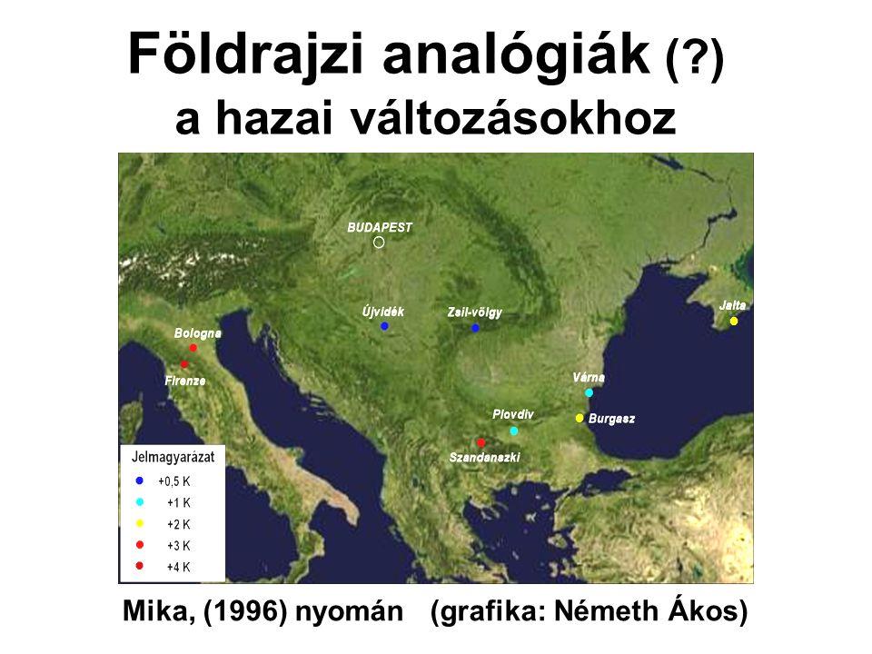 Földrajzi analógiák (?) a hazai változásokhoz Mika, (1996) nyomán (grafika: Németh Ákos)