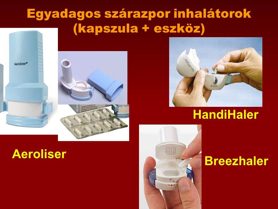 Egyadagos szárazpor inhalátorok (kapszula + eszköz) Aeroliser HandiHaler Breezhaler