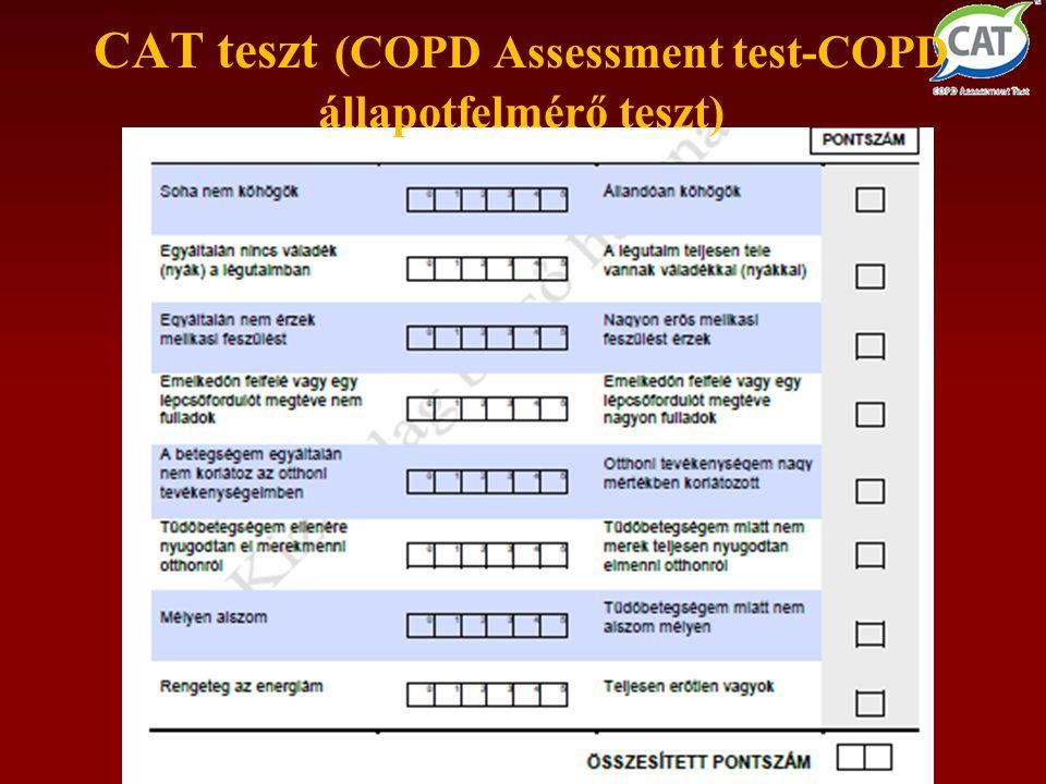 CAT teszt (COPD Assessment test-COPD állapotfelmérő teszt)