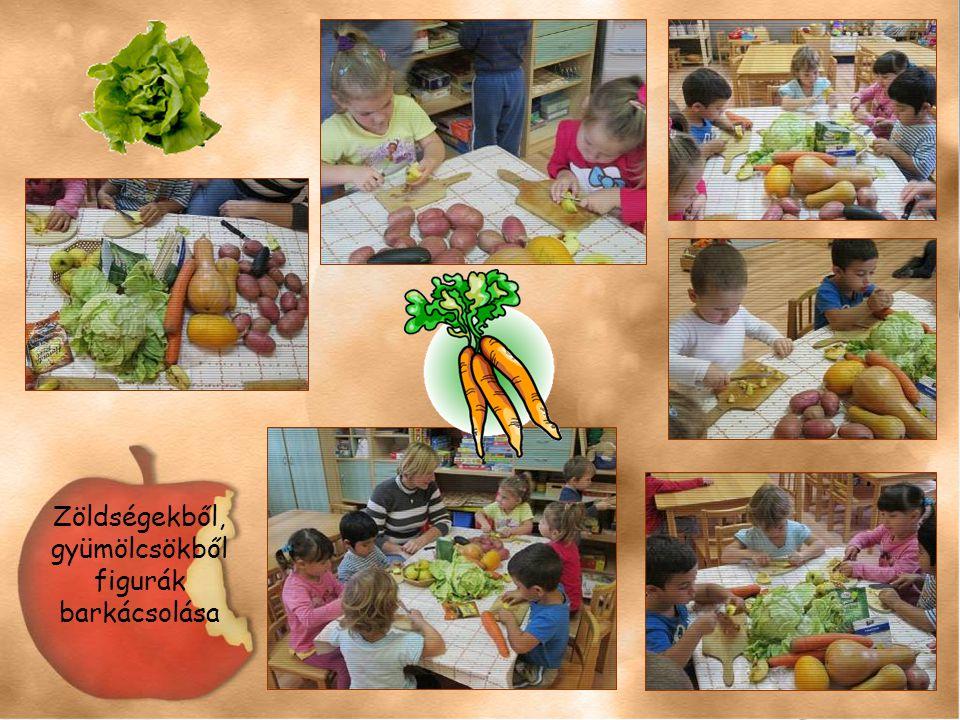 Zöldségekből, gyümölcsökből figurák barkácsolása