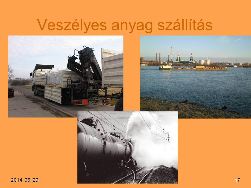 2014. 06. 29.2014. 06. 29.2014. 06. 29.17 Veszélyes anyag szállítás