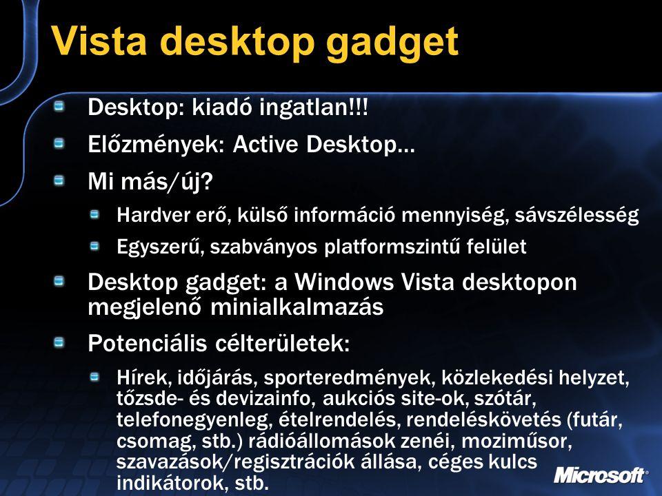 Vista desktop gadget Desktop: kiadó ingatlan!!.Előzmények: Active Desktop...