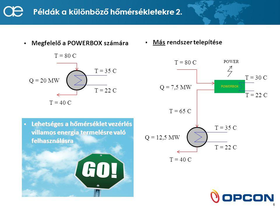 Példák a különböző hőmérsékletekre 2.
