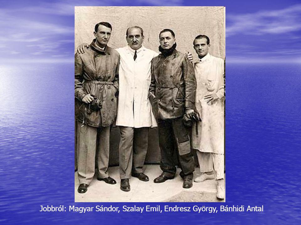 Jobbról: Magyar Sándor, Szalay Emil, Endresz György, Bánhidi Antal