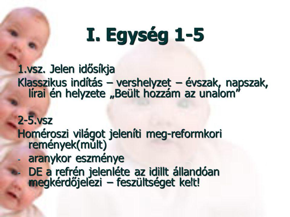 Egységek 1.: 1-5. vsz 2.: 6-10.vsz