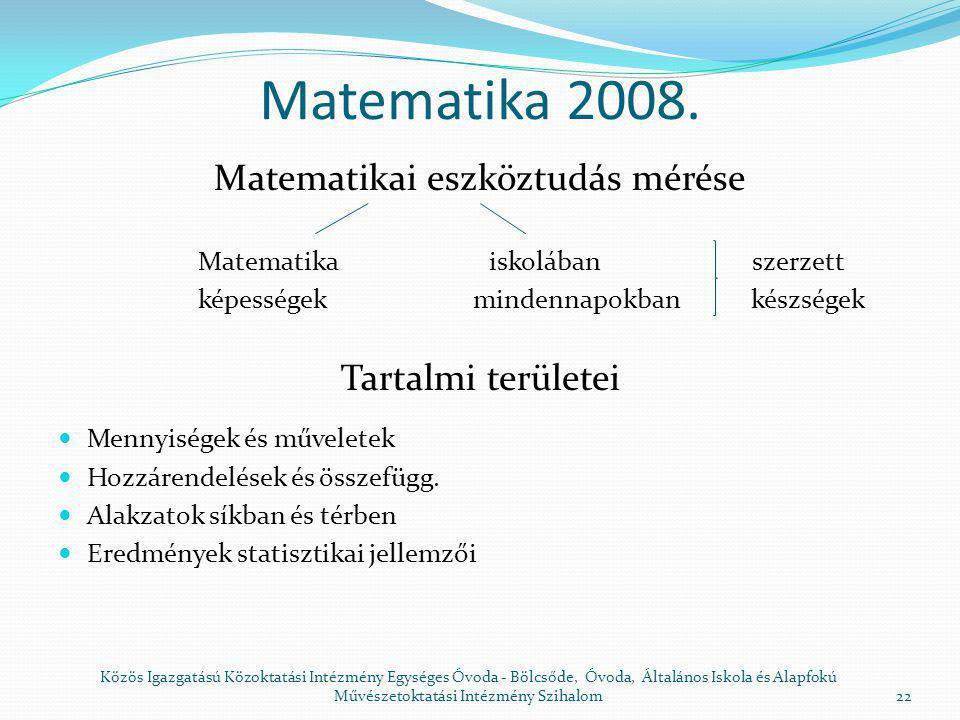 Intézményi intézkedési terv a 2008.
