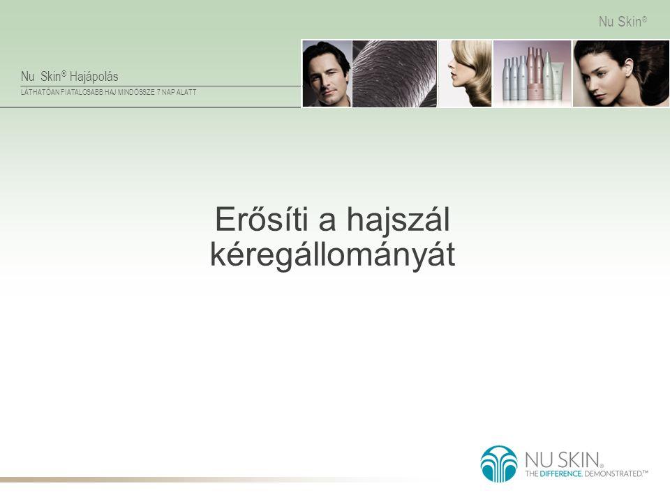 Nu Skin ® Hajápolás LÁTHATÓAN FIATALOSABB HAJ MINDÖSSZE 7 NAP ALATT Nu Skin ® Erősíti a hajszál kéregállományát