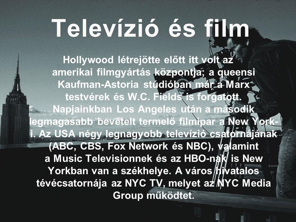 Televízió és film Hollywood létrejötte előtt itt volt az amerikai filmgyártás központja; a queensi Kaufman-Astoria stúdióban már a Marx testvérek és W.C.