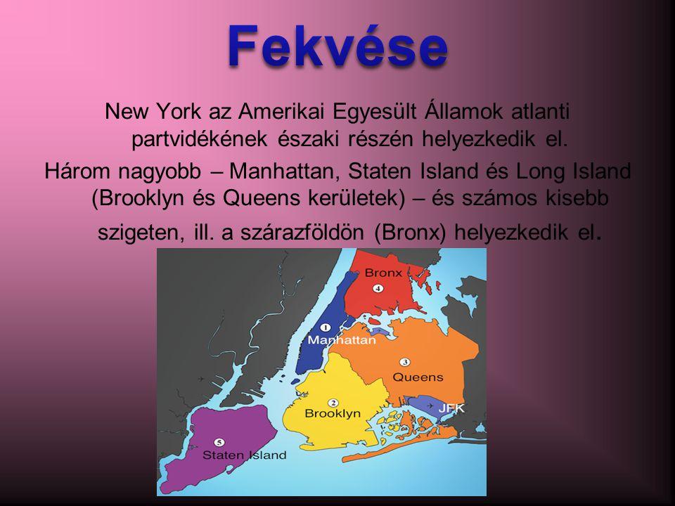 New York az Amerikai Egyesült Államok atlanti partvidékének északi részén helyezkedik el.