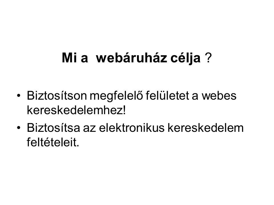 Webáruház - önellenőrző lista.