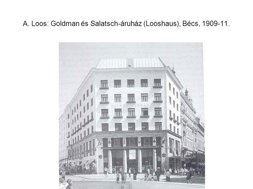 A. Loos: Goldman és Salatsch-áruház (Looshaus), Bécs, 1909-11.