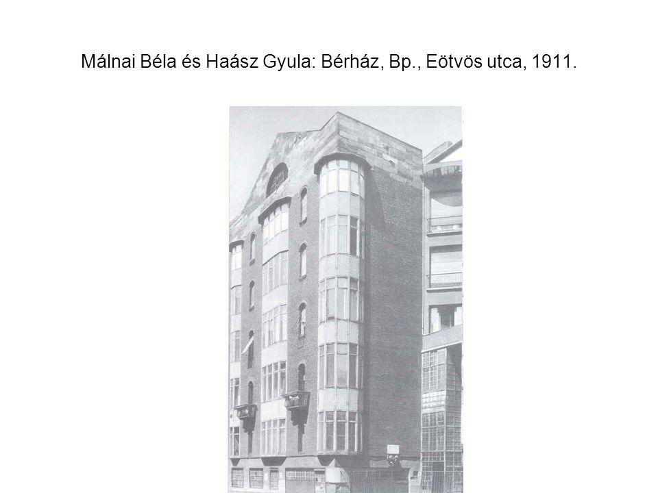 Málnai Béla és Haász Gyula: Bérház, Bp., Eötvös utca, 1911.