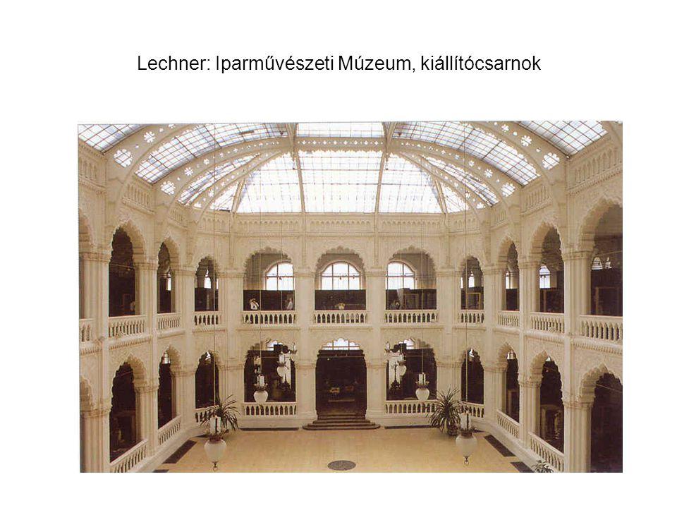 Lechner: Iparművészeti Múzeum, kiállítócsarnok